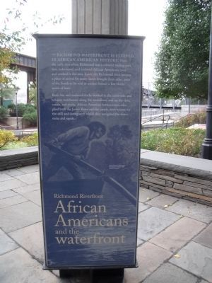 African Americans and the Waterfront Marker image. Click for full size.