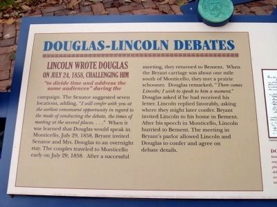 Left Section - - Douglas - Lincoln Debates Marker image. Click for full size.