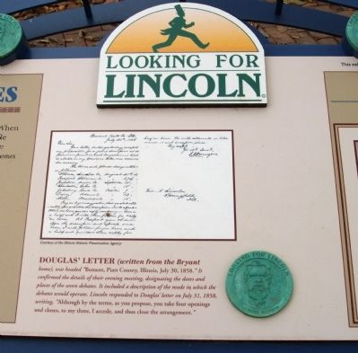 Middle Section - - Douglas - Lincoln Debates Marker image. Click for full size.