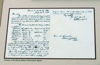 Close-up Photo - - Copy of Douglas' Letter image. Click for full size.