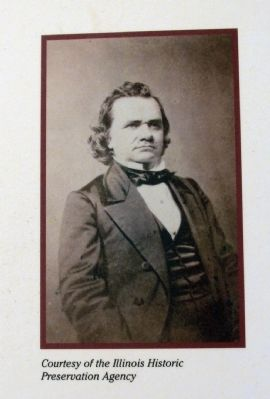 Close-up Photo - - Stephen A. Douglas image. Click for full size.