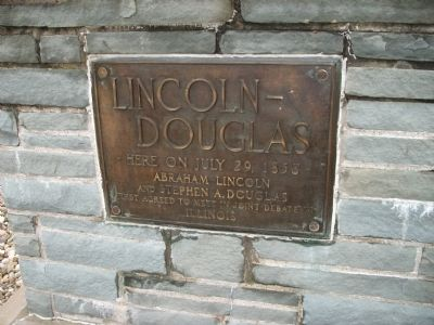 Lincoln - Douglas Marker image. Click for full size.