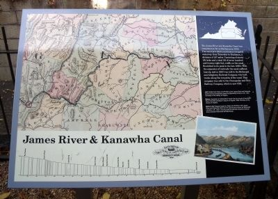 James River & Kanawha Canal Marker image. Click for full size.