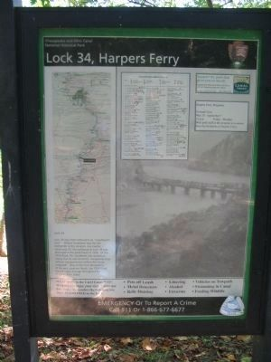 Lock 34, Harpers Ferry Marker image. Click for full size.
