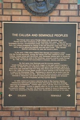 The Calusa and Seminole Peoples Marker image. Click for full size.