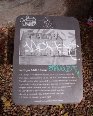 Gallego Mill Flume Marker image. Click for full size.
