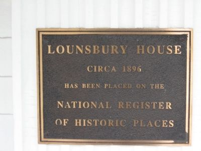 The Lounsbury House Marker image. Click for full size.