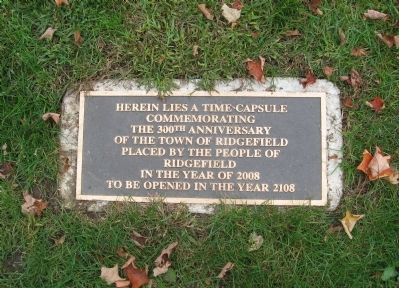 Time Capsule Plaque on the Grounds of the Lounsbury House image. Click for full size.