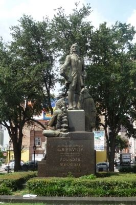 Bienville Monument, north face image. Click for full size.