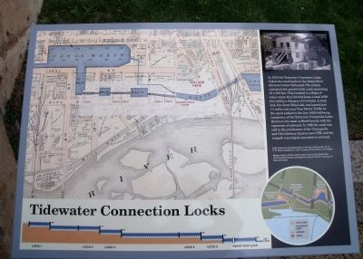 Tidewater Connection Locks Marker image. Click for full size.
