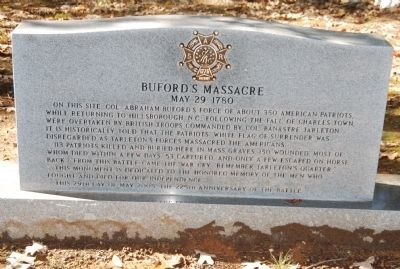 Buford's Massacre Marker image. Click for full size.