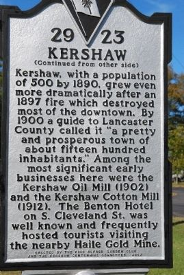 Kershaw Marker image. Click for full size.