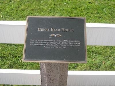 Henry Beck House Marker image. Click for full size.