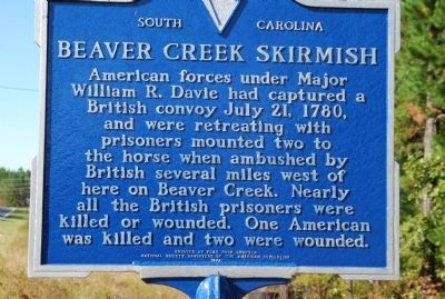 Beaver Creek Skirmish / Capture of Provisions at Flat Rock Marker image. Click for full size.