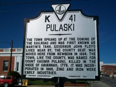 Pulaski Marker image. Click for full size.