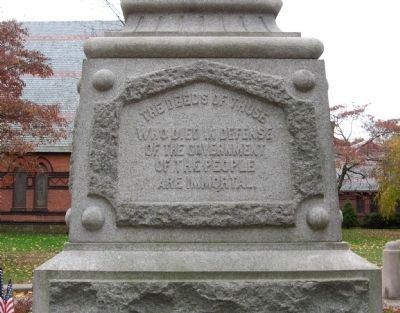 Naugatuck Soldiers' Memorial image. Click for full size.