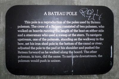 A Bateau Pole Marker image. Click for full size.
