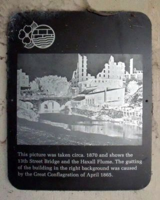 13th Street Bridge and Haxall Flume marker image. Click for full size.