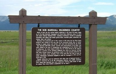 The Bob Marshall Wilderness Country Marker image. Click for full size.