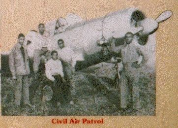 "Aviation History Marker - Close up of the ""Columbia Squadron"" image. Click for full size."