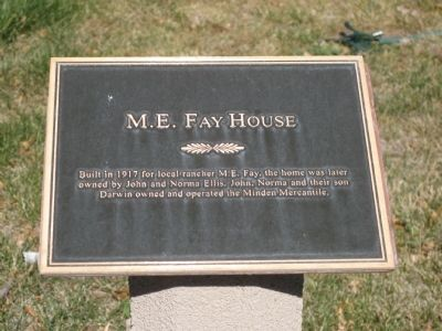 M. E. Fay House Marker image. Click for full size.