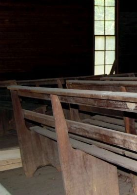 Mulberry Chapel Methodist Church -<br>Interior Pews image. Click for full size.