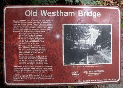 Old Westham Bridge Marker image. Click for full size.