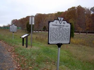 Thoroughfare Gap and Two Other Markers image. Click for full size.