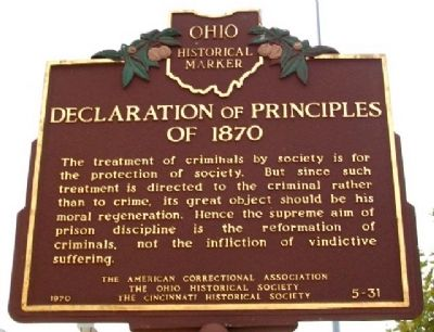 Declaration of Principles of 1870 Marker (Side B) image. Click for full size.