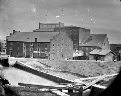 Richmond, Va. Haxall & Crenshaw's Flour Mill; Canal lock in foreground. image. Click for full size.