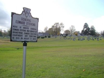 General Edward Stevens Marker at Masonic Cemetery image. Click for full size.