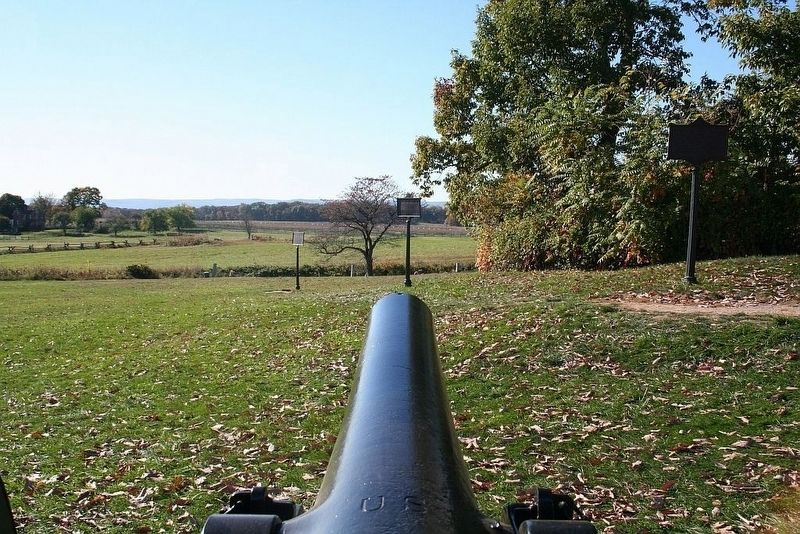 Tube #205 Cowan's Battery [1st NY Independent], view toward the west. image. Click for full size.
