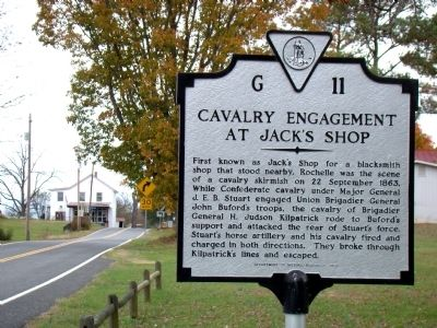 Cavalry Engagement at Jack's Shop Marker image. Click for full size.