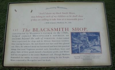 The Blacksmith Shop Marker image. Click for full size.
