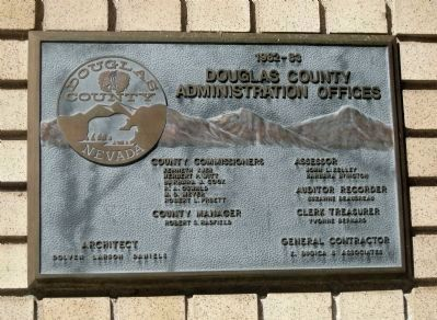 Douglas County Courthouse - Renovation Plaque image. Click for full size.