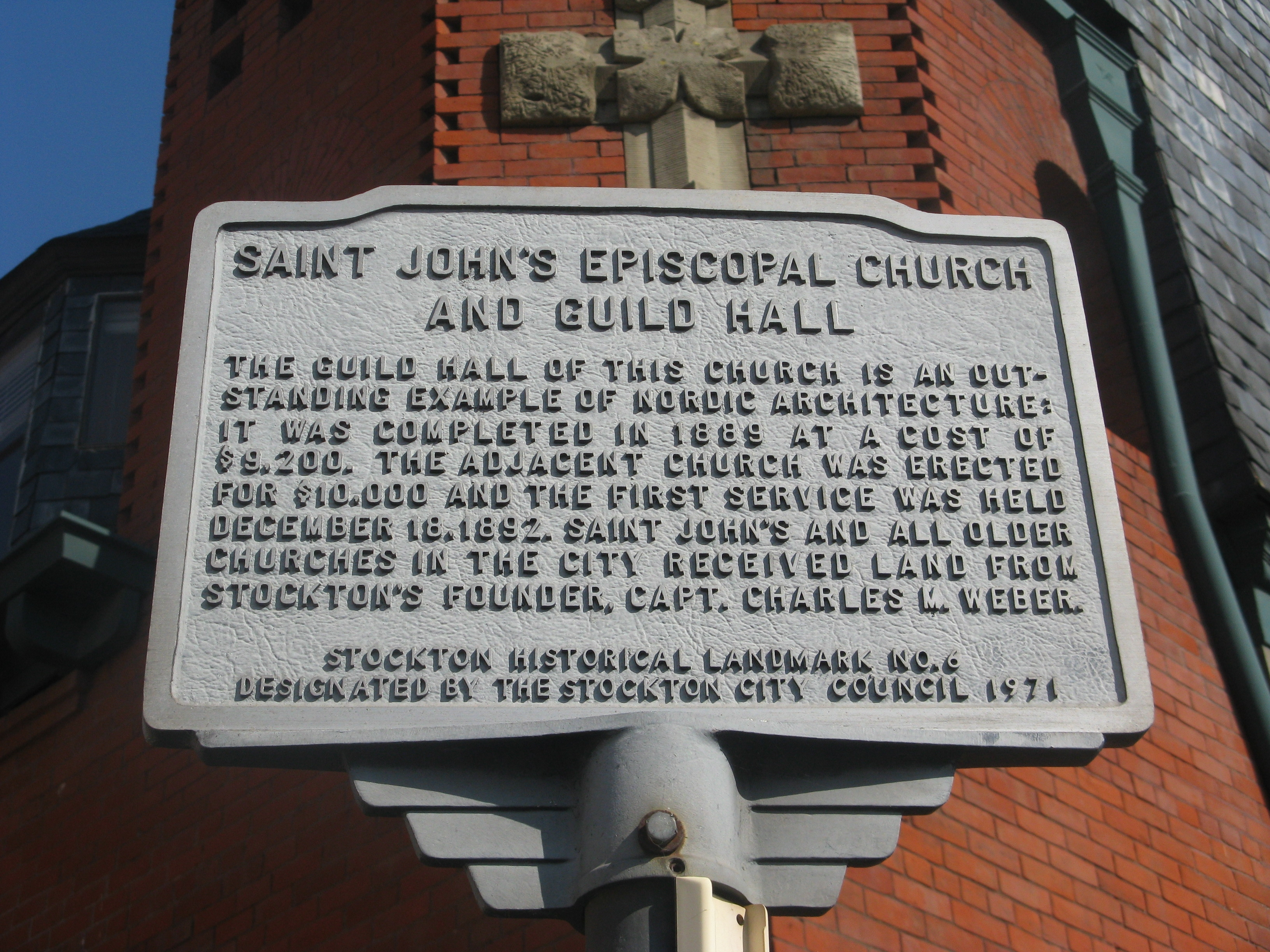 Saint John's Episcopal Church and Guild Hall Marker