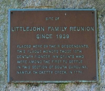 Littlejohn Family Reunion Marker image. Click for full size.