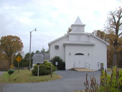 Oak Grove Baptist Church and Marker image. Click for full size.