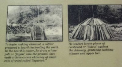 Marker Photos Showing Charcoal Making Process image. Click for full size.