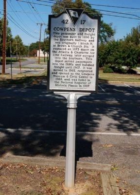 Cowpens Depot Marker image. Click for full size.