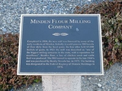 Minden Flour Milling Company Marker image. Click for full size.