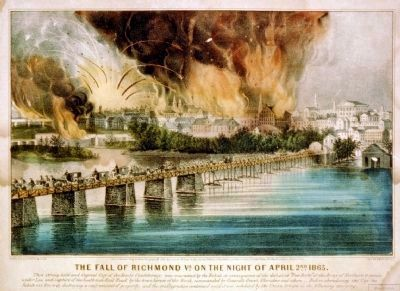 The fall of Richmond Va. on the night of April 2nd. image. Click for full size.