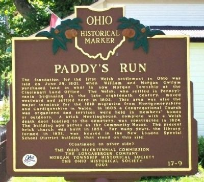Paddy's Run Marker (Side A) image. Click for full size.