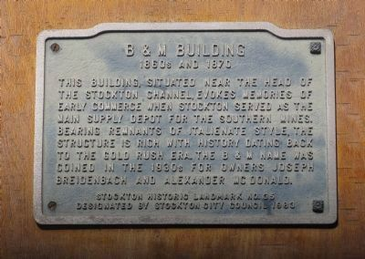 B & M Building Marker image. Click for full size.