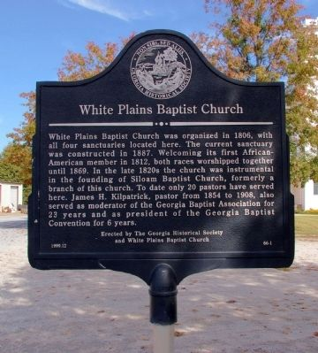 White Plains Baptist Church Marker image. Click for full size.