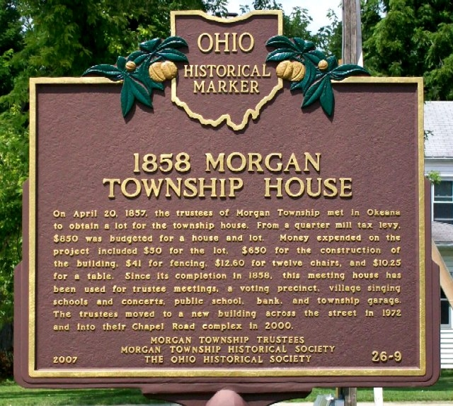 1858 Morgan Township House Marker (Side A)
