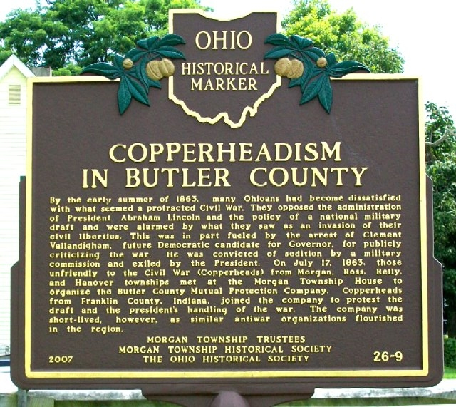 Copperheadism in Butler County Marker (Side B)