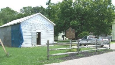 1858 Morgan Township House and Marker image. Click for full size.