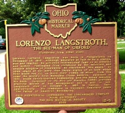 Lorenzo Langstroth Marker (Side B) image. Click for full size.