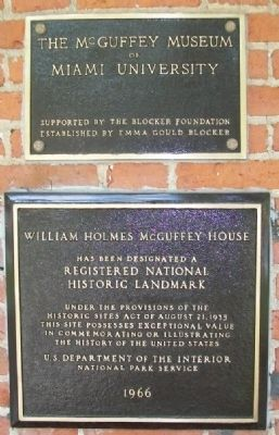 McGuffey House National Historic Landmark Marker image. Click for full size.
